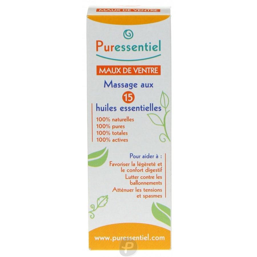 puressentiel maux de ventre massage aux 15 huiles essentielles pharma360. Black Bedroom Furniture Sets. Home Design Ideas