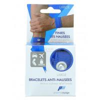 Bracelet anti-nausées bleu 1 paire