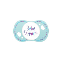 """Sucette """"bébé d'amour"""" 0-6 mois"""