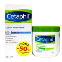 Cetaphil lotion nettoyante + crème...