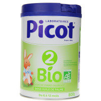 Picot 2 lait 2ème âge Bio 800 g