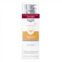 Eucerin Sun Protection Sensitive Protect Sun Crème SPF 50+ + Hyaluron-Filler Soin de Nuit 20 ml Offert
