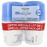 Déodorant Minéral 48H Tolérance Optimale Roll-On Lot de 2 x 50 ml