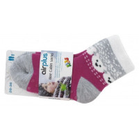 Aloe Cabin Chaussettes Hydratantes Kids - Couleur : Fuchsia Ours Blancs