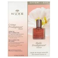 Crème Prodigieuse Boost Crème-Gel Multi-Correction 40 ml + Huile Prodigieuse Florale Visage-Corps-Cheveux 10 ml Offert