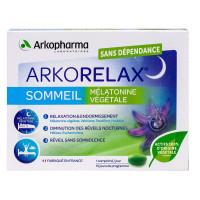 Arkorelax sommeil mélatonine végétale 15 comprimés