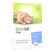 Drontal Chat Vermifuge 4 Comprimés