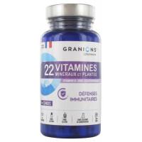 22 Vitamines Minéraux et Plantes 90 Comprimés