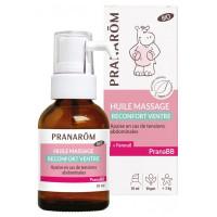 PranaBB Huile Massage Réconfort Ventre Bio 30 ml