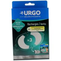 Recharges de gel adhésif patch d'électrothérapie Urgo - 3 recharges
