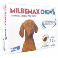 Milbemax Chew Vermifuge Spectre Large Pour Chiens de + 5 kg 2 Comprimés