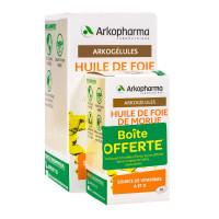 Arkogélules huile foie de morue 220+60 gélules