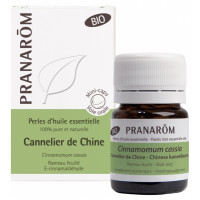 Perles d'Huile Essentielle Cannelier de Chine (Cinamommum cassia) Bio 60 Perles