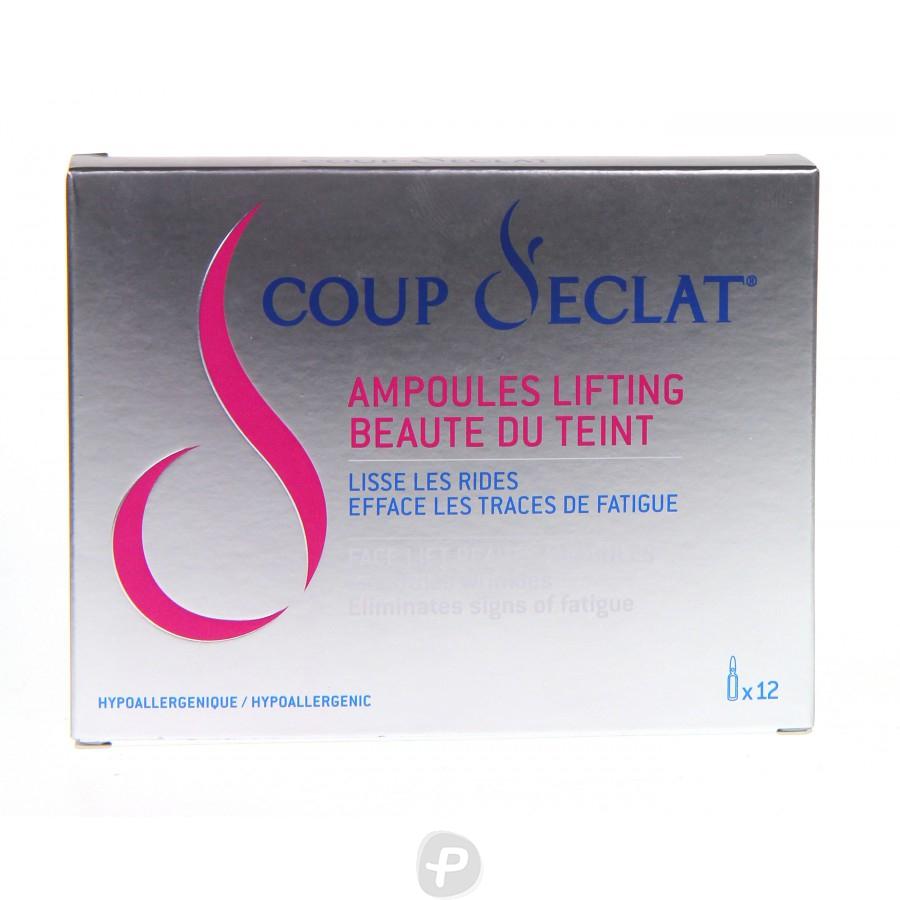 Coup d 39 eclat 12 ampoules lifting pharma360 - Coup d eclat ampoule lifting ...