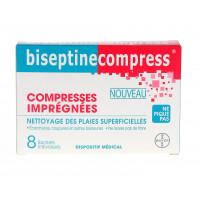 Biseptine compresses imprégnées