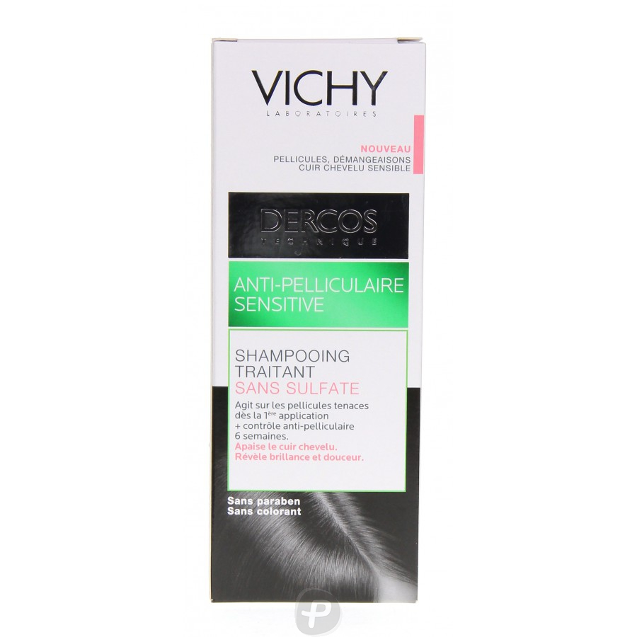 vichy dercos antipelliculaire sensitive shampooing sans sulfate pharma360. Black Bedroom Furniture Sets. Home Design Ideas