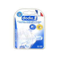 2 Tétines Silicone Col Large 0-6...