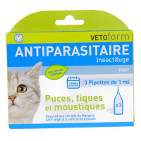 Vetoform Antiparasitaire chat 3...