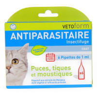 Antiparasitaire Insectifuge Chat 6...